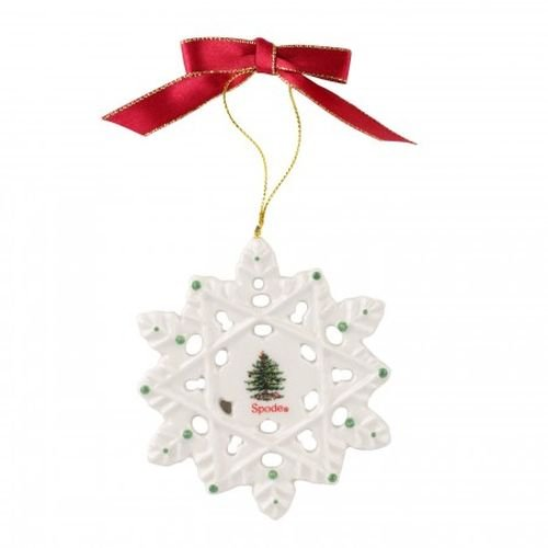 Spode Christmas Tree Ornament Snowflake