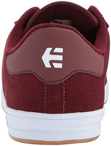 Etnies Men's The Scam Skate Shoe, White burgundy/white