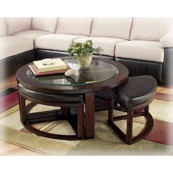 Amazon Com Ashley Furniture Solid Wood Glass Top Coffee