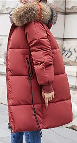 Thicken Faux 2 Parka Women Hood EKU Fur Winter Long Outwear Jacket gqWAxZRn