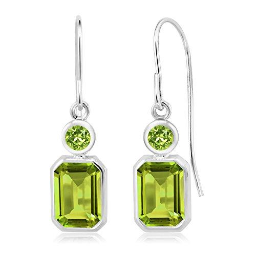 2.20 Ct Emerald Cut Green Peridot 925 Sterling Silver ()