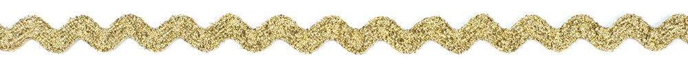 Dove of the East Golden Sparkle RicRac for Scrapbooking, 1-Yard by Dove of the East B00A36K7HM