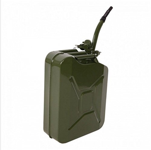 5 Gallon 20L Metal Gas Tank Can (US Stardard) Gas Can Power Emergency Backup Tank with Flexible Spout Green (1)
