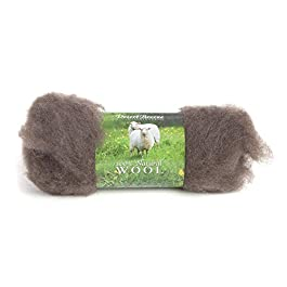 Maori Wool – A Special Blend of New Zealand Wools by DHG for Needle Felting and Wet Felting, 1 OZ Carded Wool Batt, 100% Pure Wool, Color Sable Brown