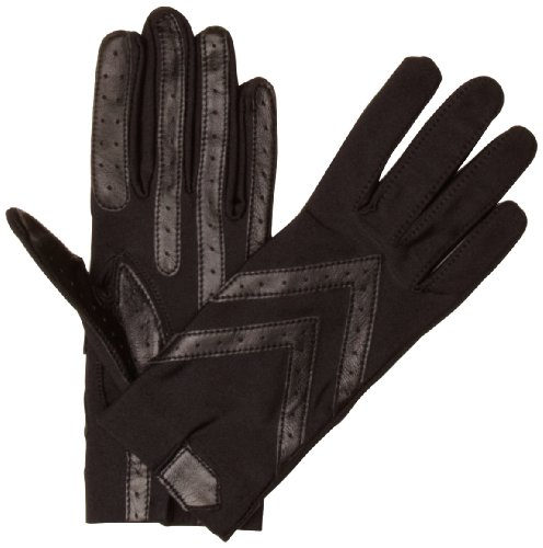 isotoner Women's Original Spandex Gloves, Black, One Size