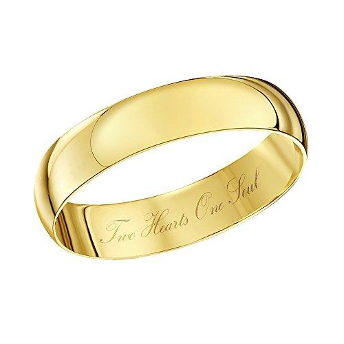 Theia Bague 9carats (375/1000) Or jaune Unisexe - Taille 53 (16.9)