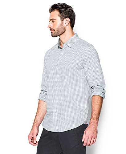 Under Armour Men's Performance Woven Shirt, Steel (035)/Steel, XX-Large by Under Armour (Image #2)