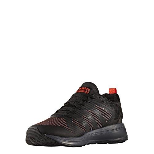 adidas CLOUDFOAM SUPER FLYER - Zapatillas deportivas para Hombre, Negro - (NEGBAS/NEGBAS/ROJSOL) 41 1/3