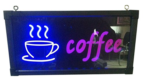 Creative Motion Coffee with a Cup Sign