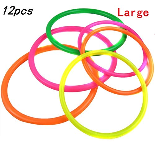 12 Pcs Large Size Plastic Toss Rings for Speed and Agility Practice ()