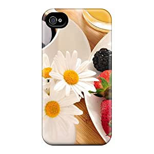 New Fashion Premium Tpu Case Cover For Iphone 4/4s - Food
