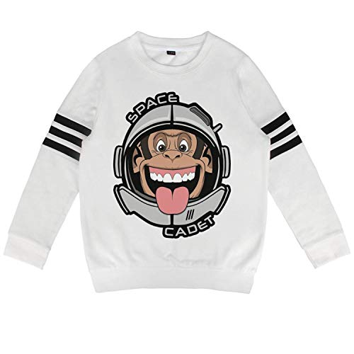 (epoyseretrtgty Autumn Baby Little Kids White Monkey Astronaut Ape Helmet Hoody Cool Sweatshirt)