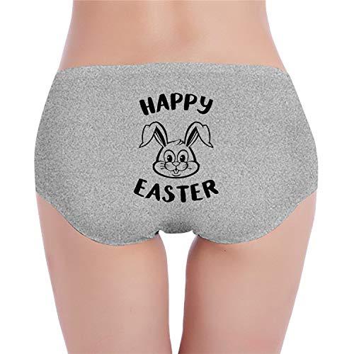 Happy Easter Rabbit Clipart Brief Panties Underwea Girl's Low-Waist Stretch