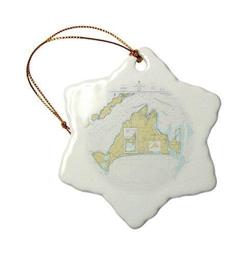 Leiacikl22 Christmas Ornaments Print Of Nautical Map Of Marthas Vineyard Hanging Ornaments (Vineyard Martha's Christmas Ornaments)