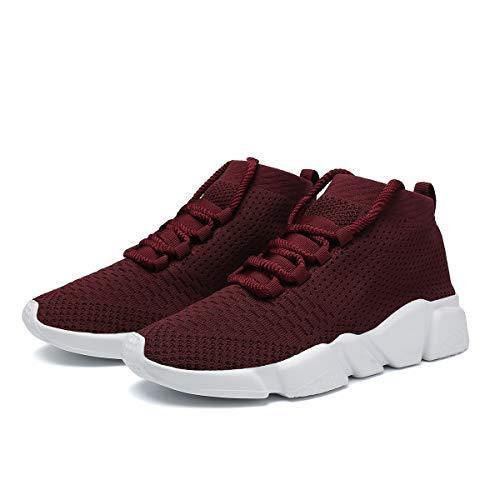 Kundork maroon Shoes Casual Tennis Baseball Sneakers 0801 Women Gym Shoe Womens Knit Training Running Walking Athletic Jogging for rrTwRxq