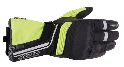 Alpinestars Jet Road Gore-Tex Gloves , Gender: Mens/Unisex, Distinct Name: Black/Yellow, Primary Color: Black, Size: Md, Apparel Material: Textile 3522013-155-M