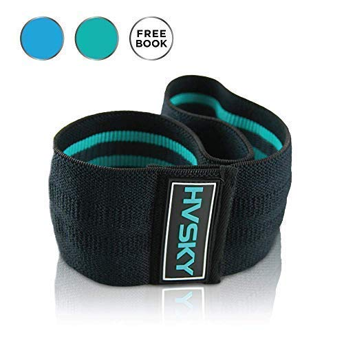 HVSKY Fitness Fabric Resistance Bands | Premium Booty Band - Tones Legs, Hips, Glutes - Soft & Non-Slip Hip Band - Newest Version for 2019