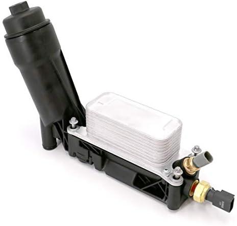 UTSAUTO Engine Oil Filter Cooler Adapter Housing Assembly 5184294AE for 2011-2013 Jeep Dodge Chrysler 3.6L V6 ENGINE OIL COOLER FILTER HOUSING