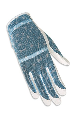 ht Hand Solaire Full Length Golf Glove, Large, White Burst ()