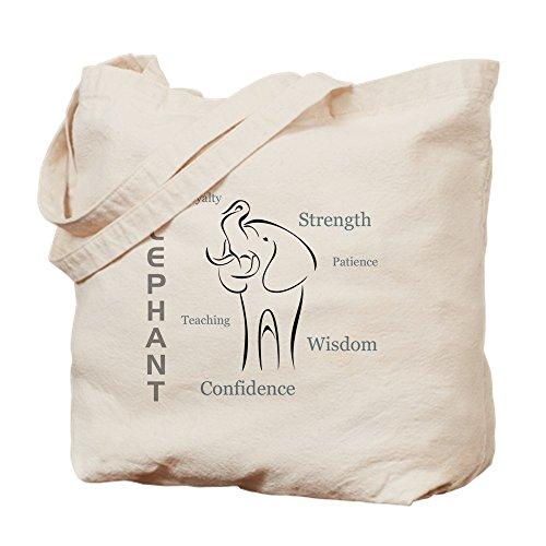 CafePress–elefante Totem–Gamuza de bolsa de lona bolsa, bolsa de la compra