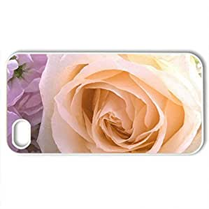 Beautiful rosCase For HTC One M8 Cover (Flowers Series, Watercolor style, White)