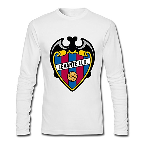 Male Levante Ud Logo 100% Cotton Long Sleeve T-Shirt White XS By Rahk ()