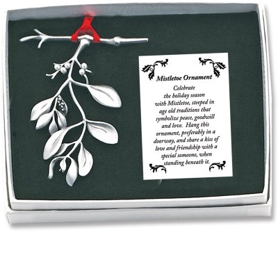 Mistletoe Ornament (Cathedral Art CO625 Mistletoe Ornament, 3-Inch)