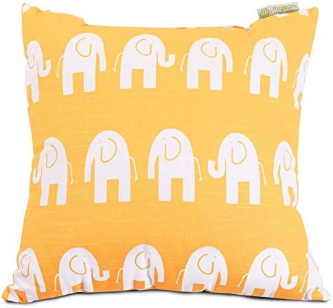 Majestic Home Goods Yellow Ellie Indoor Large Pillow 20 L x 8 W x 20 H