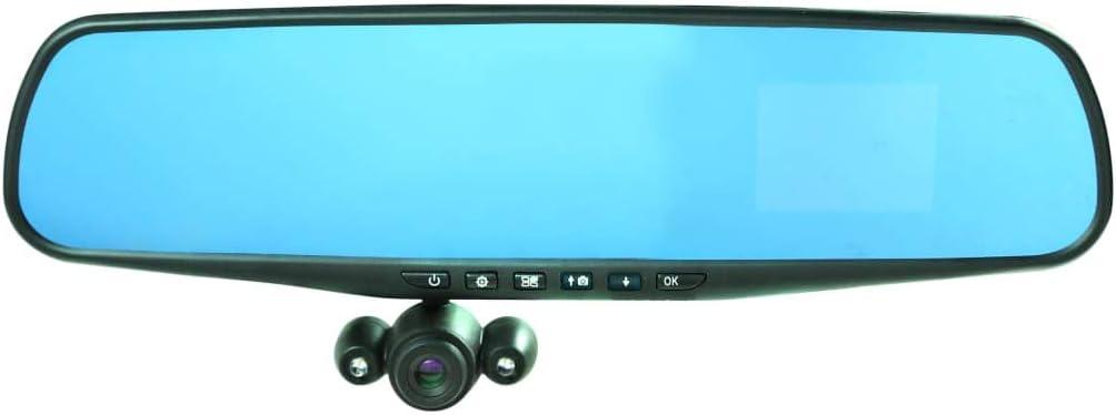 HD Mirror Cam Espejo Retrovisor Cámara Video Coche Automóvil Vehículo Carro: Amazon.es: Bricolaje y herramientas