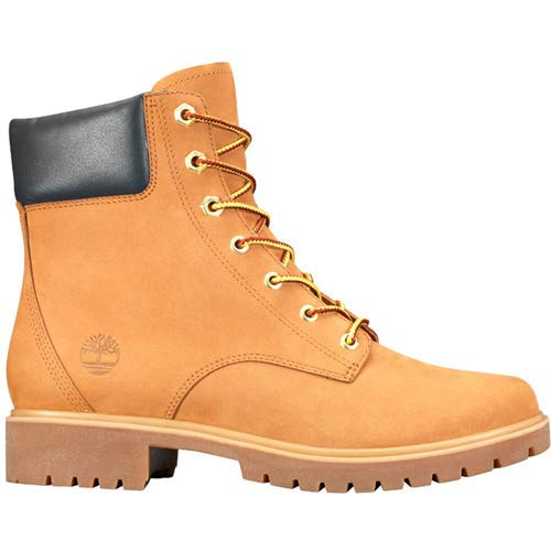 (Timberland Womens Jayne 6-Inch Waterproof Wheat Nubuck Boot - 10)