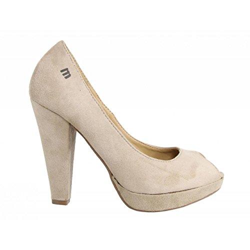 Escarpins pour Femme MTNG 53212 TEX SUEDE BEIGE