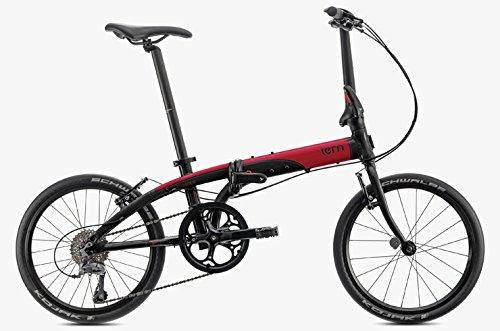 tern(ターン) 2018年モデル LINK N8(リンク N8) 20インチ 8段変速 フォールディングバイク B073F5X8CT ブラック/レッド ブラック/レッド