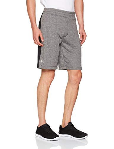 Under Armour Men's Tech Terry Shorts Carbon Heather/Black/Silver X-Large 10 by Under Armour (Image #1)