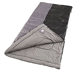 Coleman Sleeping Bag | 40°F Big and Tall Sleeping Bag | Biscayne Sleeping Bag 7 <p>Designed for people up to 6 feet 4 inches tall, the Coleman Biscayne Big and Tall Warm-Weather Sleeping Bag offers the space, warmth, softness, and ventilation you need to sleep comfortably. With its brushed polyester cover and soft tricot fiber blend liner, this sleeping bag is soft, lightweight, and machine washable. Suitable for mild temperatures as low as 40°F, it features a Thermolock draft tube that helps prevent heat loss through the zipper on colder nights, and it unzips at the bottom to provide ventilation on warmer nights. Rugged Fiberlock construction keeps the insulation from shifting even after seasons of use, and the 2-way patented ZipPlow system plows fabric away from the zipper to prevent snags and frustration. When it's time to pack up, this camping sleeping bag rolls and fastens quickly with its Roll Control design and Quick Cord system. Lightweight adult sleeping bag for camping in mild temperatures as low as 40 degree Fahrenheit Big and tall design can accommodate most people up to 6 feet 4 inches tall Brushed polyester cover and tricot fiber blend liner provide softness and breathability ZipPlow system plows away fabric to prevent snagging during zipping Roll Control design and Quick Cord system for easy rolling and securing</p>