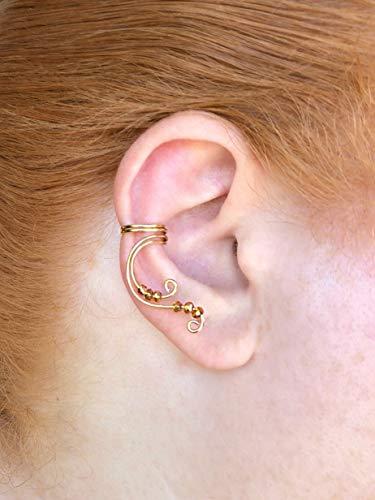619eeb3de Fantasy-Inspired Fairy Ear Cuff   Single Brass Earring for Non-Pierced Ears    Elven Fake Cartilage Piercing   Perfect Choice for Renaissance Fairs, ...