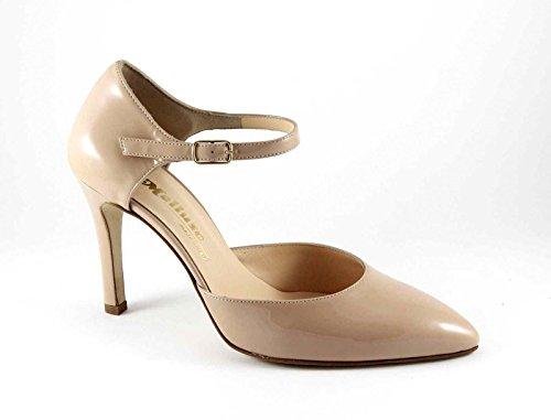 MELLUSO E1582 desnudo mujer zapatos de correa de carne dcollet pintura punta Beige