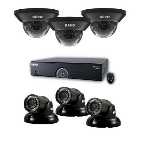 (REVO America R165D3GT3G-1T 16 Channel 1TB 960H DVR Surveillance System with 6 700TVL 100-Feet Night Vision Cameras (Black))