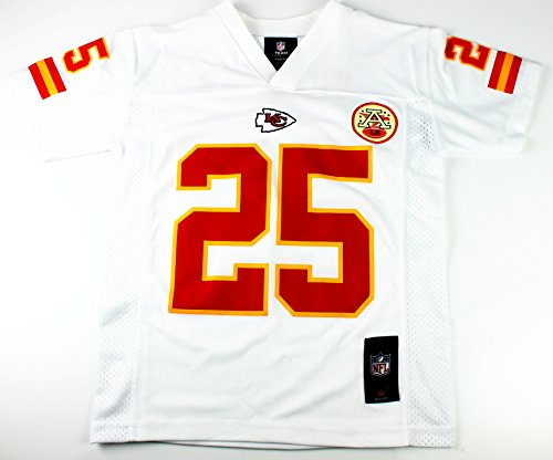 Jamaal Charles #25 Kansas City Chiefs NFL Youth Mid-tier Jersey White – DiZiSports Store