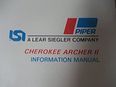 Piper Cherokee Archer 2 Information Manu