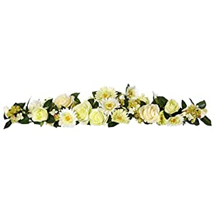 National Tree Company 32.5 in. Rose Gerbera and Hydrangea Centerpiece Swag 71