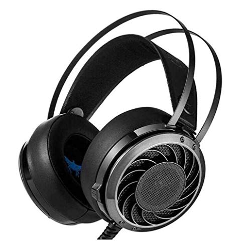 DAMAI STORE Brief Professional 3.5Mm Pc Stereo Gaming Headphones Bass Headphones Comfort Headband Noise Isolated Earmuffs Black Handy
