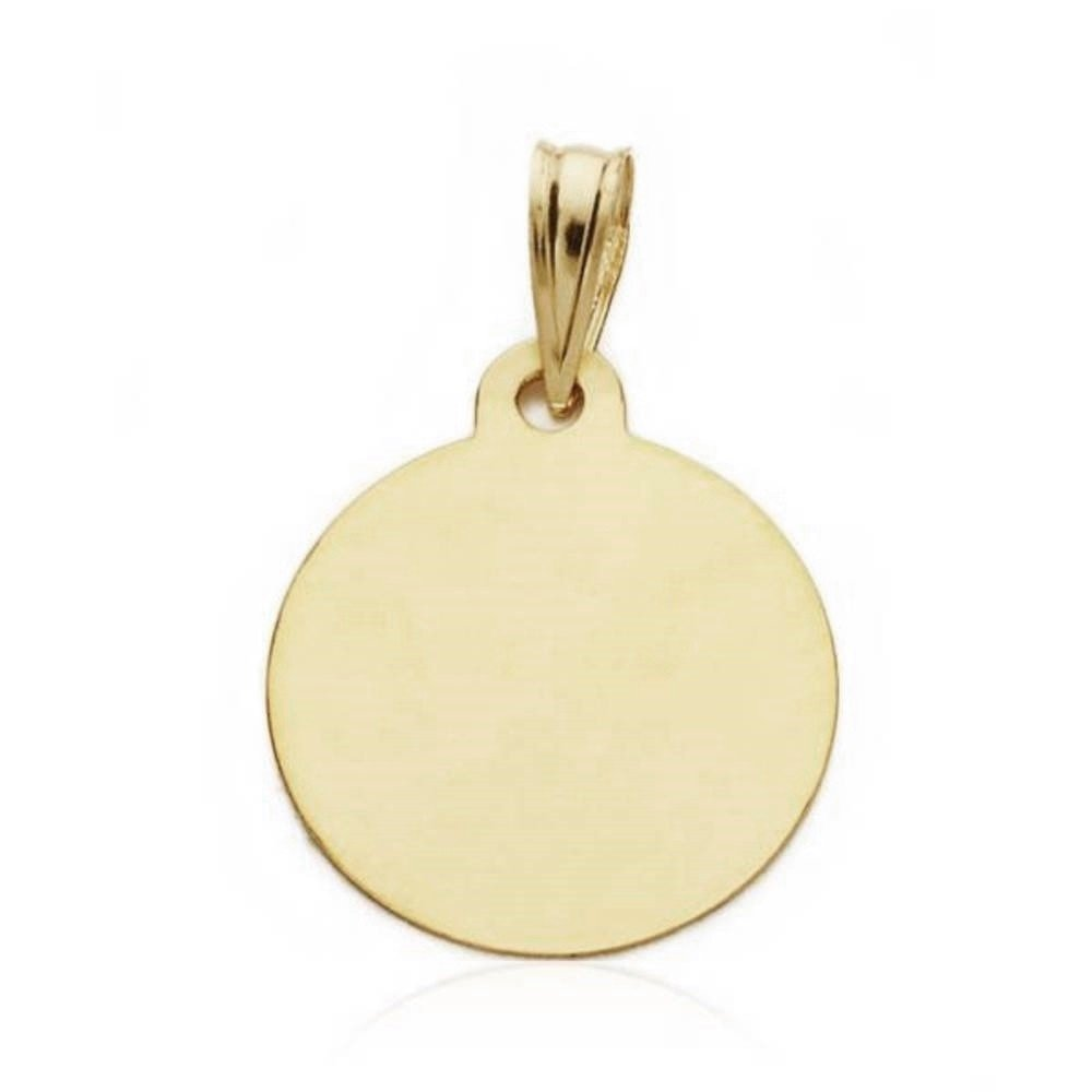 - personnalisable Aa0583Gr M/édaille pendentif 15mm enfant montre en or 18 carats. enregistrement inclus dans le prix