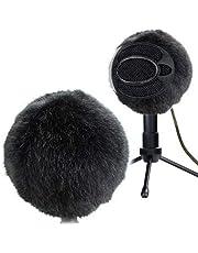 certainoly Futrzany zewnętrzny mikrofon na przednią szybę Muff wewnętrzna szyba przednia osłona przed wiatrem spersonalizowany filtr pop do niebieskiej śnieżnej ICE Mic