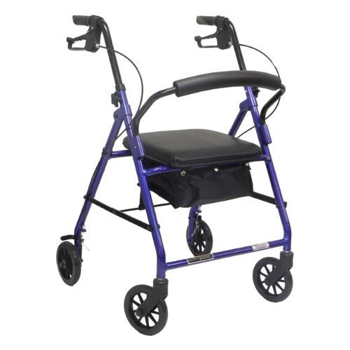 ProBasics Economy Rollator with Loop Brakes and Pouch (Burgundy) by ProBasics