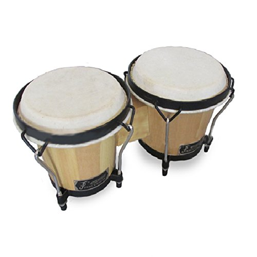 Hip Bongo Drums™ ★ Most Preferred Bongo Drums ★ All Natural Hides and Shells Perfect Percussion Sound ★ Extra Durable and Weatherproof ★ Built for Rough Handling By Beginners and Enthusiasts ★ No Sharp Edges to Hurt Kids Beautiful Design ★ Tunable Bongos 6 & 7 Inch - 266 (Little Girl Drum Set)