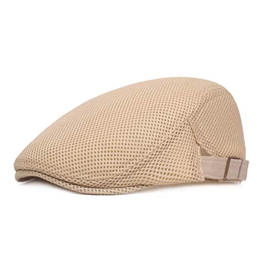 9f9ece29efd King Star Men Breathable Mesh Summer Hat Newsboy Beret Ivy Cap Cabbie Flat  Cap