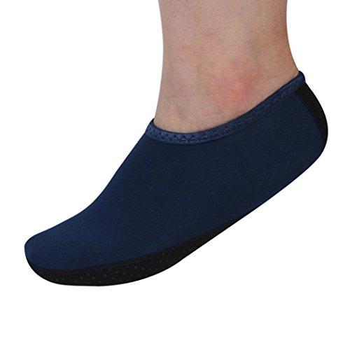 Hombre Mujer Yoga Surf Beach Snorkeling Calcetines Natación Buceo Calcetines Nadar Zapatos Azul Marino