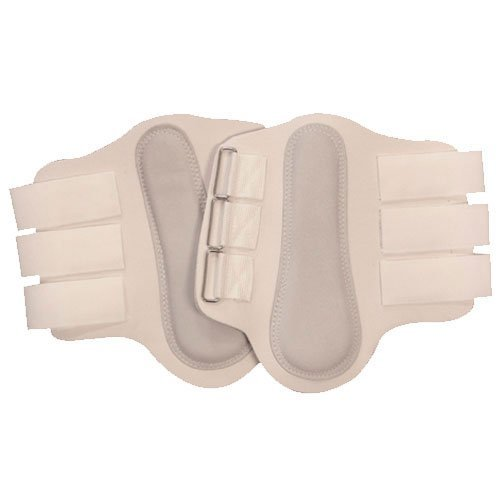 Intrepid International Splint Boots with White Leather Patches, Medium, White