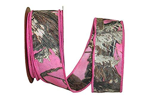Reliant Ribbon 77296M-061-09F Hot Woodland 2 Sided Wired Edge Ribbon, 1-1/2 Inch X 10 Yards, Pink