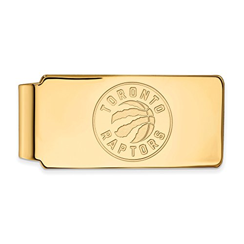 NBA Toronto Raptors Money Clip in 14K Yellow Gold by LogoArt